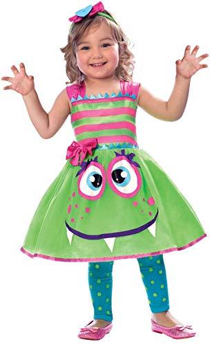 amscan süßes Monster Mädchen Kostüm Halloween gruselig gruselig Kleinkind Kinder - Kleinkind Mädchen Monster Kostüm