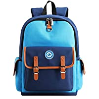 Kids Backpack Preschool Kindergarten Primary School Book Bag for Girls Boys (Blue-Blue, Small)
