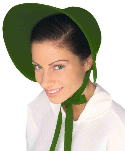 Grün Filz Motorhaube kolonial Pilgrim mönchsittiche amischen Pioneer Prairie Hat (Kolonial Hüte)