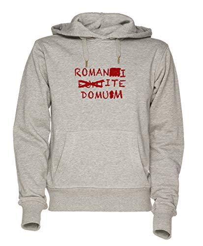 Romans Go Home Unisex Grau Sweatshirt Kapuzenpullover Herren Damen Größe M | Unisex Sweatshirt Hoodie for Men and Women Size M Ite Pullover Hoodie