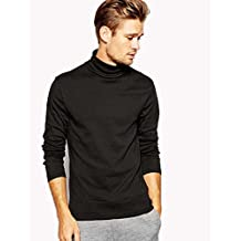 MEN'S ROLL NECK SOFT SUPERIOR QUALITY COTTON LONG-SLEEVE TOPS- All Sizes & Colours(Ref:1251)