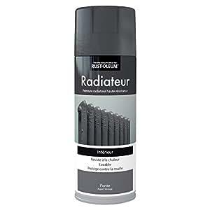 rust oleum ae0236400fr radiateur peinture aspect vintage fonte gris bricolage. Black Bedroom Furniture Sets. Home Design Ideas