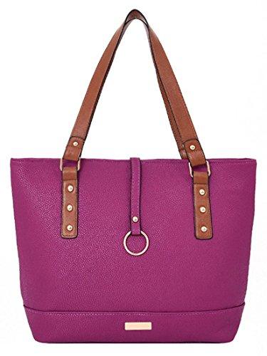 Kukubird Remi In Ecopelle Con Anello In Metallo Ciondolo Dettaglio Top-manico Spalla Tote Handbag Purple