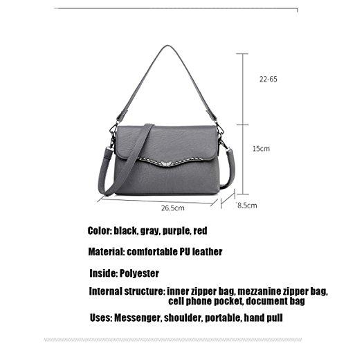WU ZHI Mittelalter Damen Mutter Tasche Neue Produkt Schulter Messenger Bag PU Weichen Oberfläche Handtasche Handtasche Red