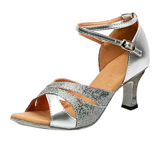 VECDY Damen Sommer Sandalen Mode High Heels Rumba Waltz Prom Ballroom Latin Salsa Tanzschuhe Square Dance Schuhe 35-41