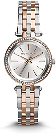 Michael Kors Petite Darci Women's Silver Dial Stainless Steel Analog Watch - MK