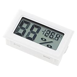 Generic Digital Humidity Test Meter Thermometer Outdoor Hygrometer LCD Display - white
