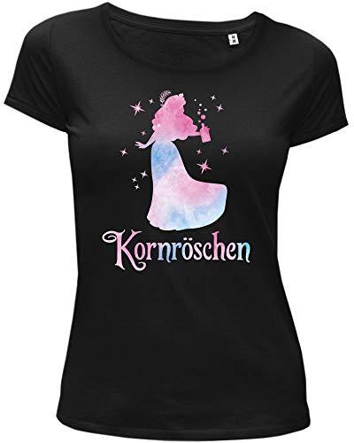 Lieblingsleiberl Kornröschen Damen T-Shirt Schwarz X-Large -