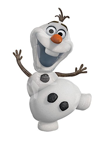 Amscan Anagram 2831601 - Party und Dekoration - Folienballon Super Shape - Disney Frozen - Olaf, circa 58 x 104 cm