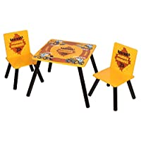 Sky Furniture JCB Muddy Friends Childrens Table & Chairs for Kids