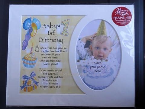 Homestreet Gifts Fond de cadre souvenir 1er anniversaire de bébé