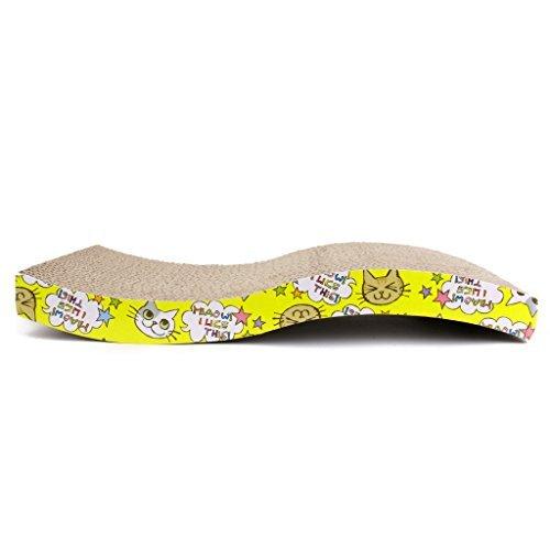 Type ondulé à chat Tableau Pad Lit cranté jouet 43 x 21 x 6 cm