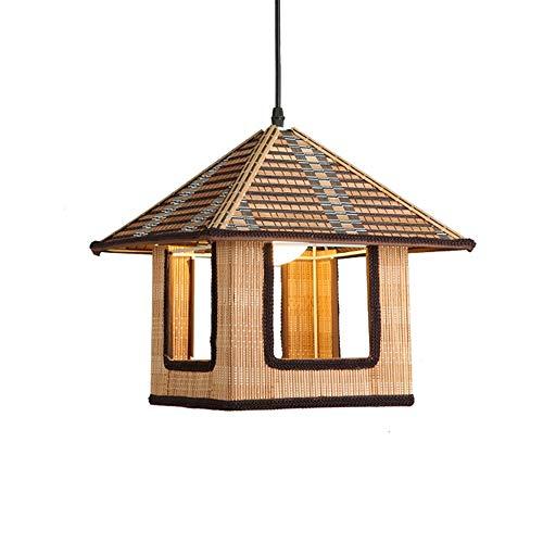 Retro kreative Haus Kronleuchter, personalisierte handgewebte Spitze Dekoration Kabine verstellbare Decke Pendelleuchte, E27 Lichtquelle für Schlafzimmer Teehaus Restaurant Küche Leuchte -