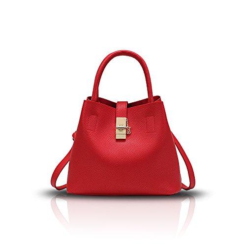 Tisdain Nuova borsa semplice colore moda femminile semplici secchi signore pacchetto diagonale spalla portafoglio rosso