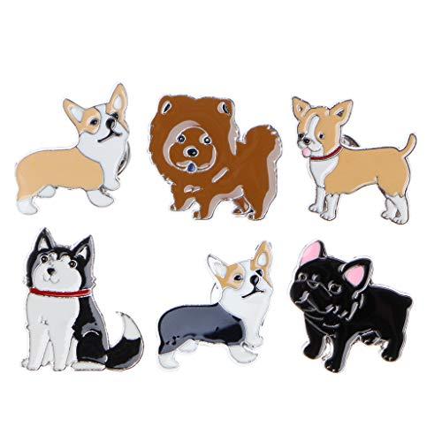 Manyo Brosche Tier Brosche Haustier Welpen Husky Corgi Ji Wawa Hunde Emaille Broschen Pins Cute Pet Lovers Schmuck