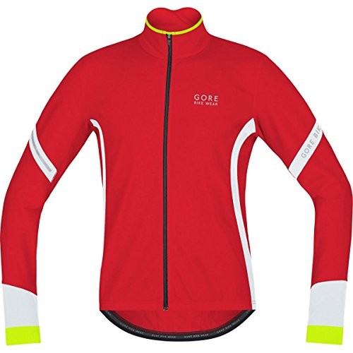GORE BIKE WEAR Herren Thermo Rennrad-Jersey, Langarm, GORE Selected Fabrics, POWER 2.0 Thermo Jersey, Größe: S, Rot/Weiß, KMPOWE (Langarm-trikot Thermo)