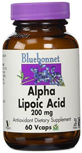 Bluebonnet Nutrition, Acide alpha-lipoïque, 200 mg, 60 Capsules végétales