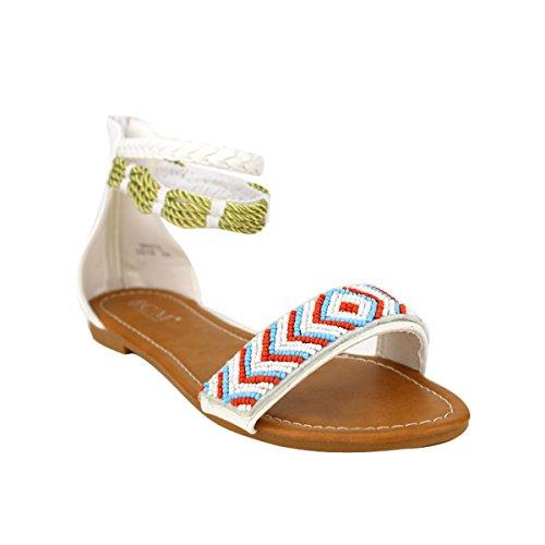 Cendriyon Sandale Blanche CMODA Chaussures Femme Blanc