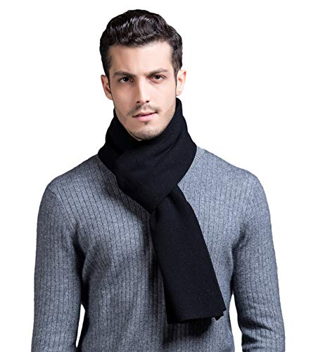 RIONA Herren 100% Australische Merino Wolle Gestrickt Warmer Schal