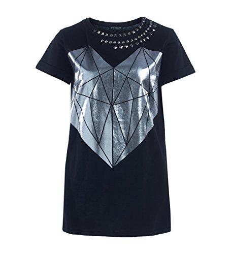 Twin Set PS727C, T-Shirt Donna, Nero, Large (Taglia Produttore:L)