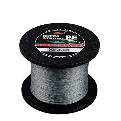 Lshel-lenza da pesca intrecciata, intrecciato con 4 fili, estremamente resistente, da 500 m, di alta qualità
