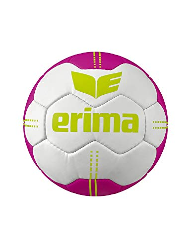 Erima Unisex Jugend Pure Grip No. 4 Handball, weiß/pink, 1