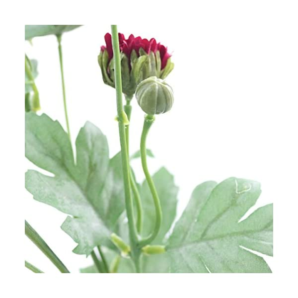 Jarown – Ramo con 8 flores artificiales de seda de crisantemo de tallo largo para el jardín, la cocina, el comedor
