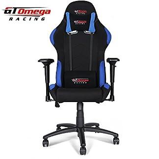 GT Omega Pro Racing silla de oficina negro con azul tela
