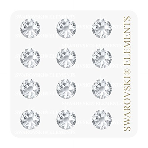 36 Swarovski Elements Kristalle (4.8mm) selbstklebend zum dekorieren (z.B. Wandtattoos, Laptop u.v.m.)