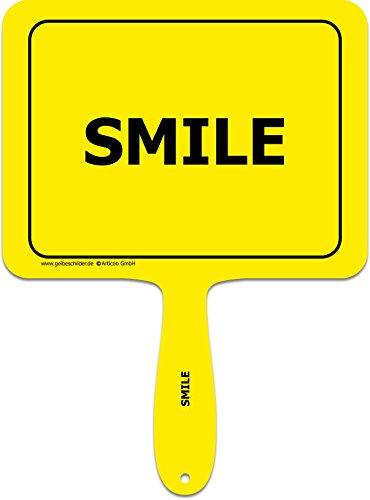 'Smile' Spruch-Schild fürs Büro, Auto, Hochzeit, Fotoboxen, Fotoshootings oder Festivals | Lustige Provokantes Spruchschild Funschild Fotobooth Fotobox