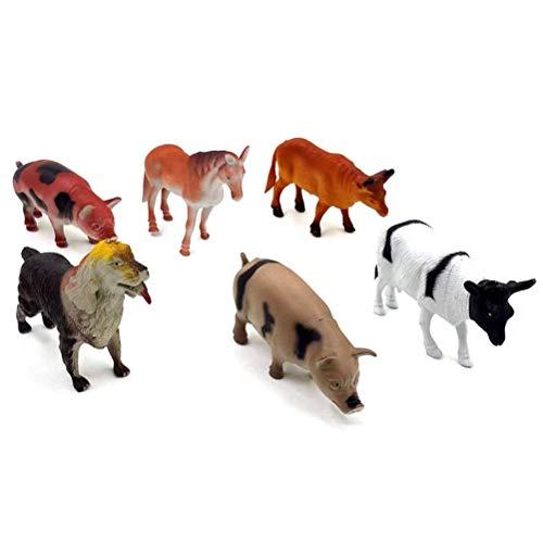 Toymytoy Animals Figure Mini Farm Animal Set Zoo World Realistic Animal Learning