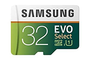 Samsung 32GB 95MB/s (U1) MicroSDHC EVO Select Memory Card with Adapter (MB-ME32GA/AM)