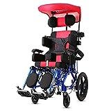 """DPPAN Drive Medical Transport Silla de ruedas Plegable ligero para niños, reposapiés elevadores de aleación de aluminio para transferencias fáciles,18"""" Seat"""
