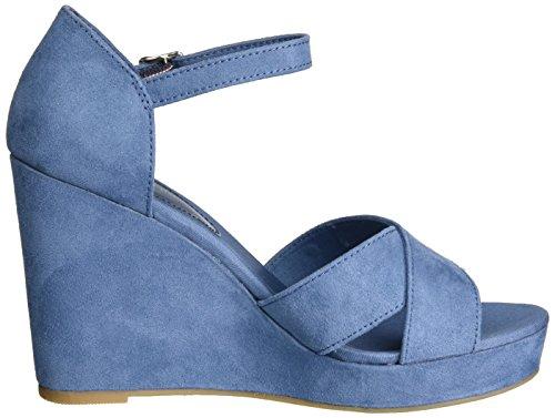 Tommy Hilfiger Damen E1285lena 45d Knöchelriemchen Blau (Jeans 013)