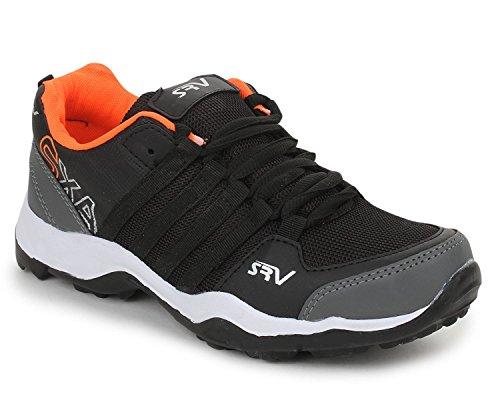 TRASE SRV Parker Black/Orange Kids/Boys Sports Running Shoes-4C IND/UK