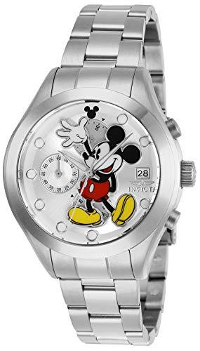 Invicta 27398 Disney Limited Edition Mickey Mouse Reloj para Mujer acero inoxidable Cuarzo Esfera plata