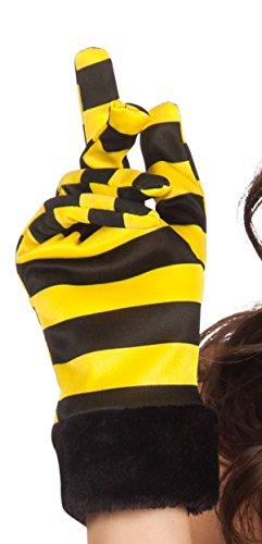 Boland 03124 - Handschuhe Honigbiene, Einheitsgröße, gelb / schwarz