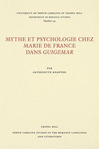 Mythe Et Psychologie Chez Marie De France Dans Guigemar