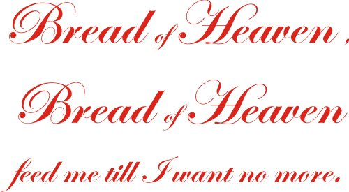 Wall art sticker vinyl quote BREAD OF HEAVEN WELSH RUGBY GIFT 90X45CM ED by Intercoat