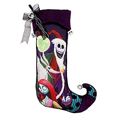 Disney Park Jack Skellington LARGE Nightmare Before Christmas Holiday Stocking by Disney