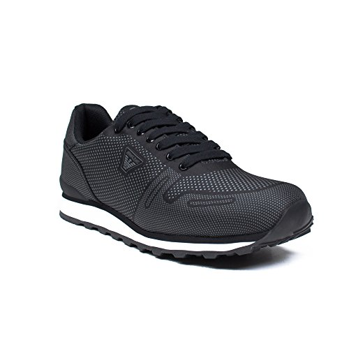 Armani Jeans Men's Black Trainers Noir