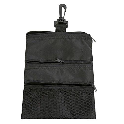 Kofun Golfball-Tasche, tragbare Golfball-Taschen-Halter-Reißverschluss-Masche-Beutel-Lagerung für Training im Freien