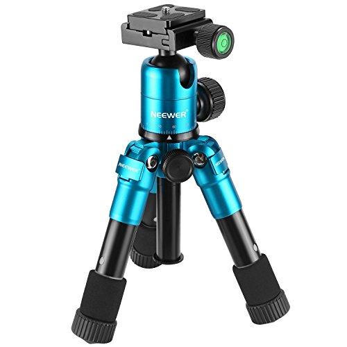 Neewer 50cm tragbare kompakt Tisch Makro Mini Stativ mit 360 Grad Ball Kopf, 1/4 Zoll schnell Schuhplatte, Tasche für DSLR Kamera, Video Camcorder, bis zu 5 Kilogramm Blau