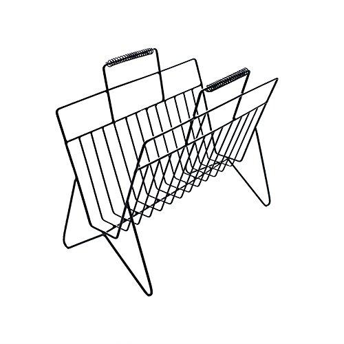 Nordic Desktop Einfache Bücherregal Regal Kreativ Auf Der Tabelle Gerüst Eisen Mini Zeitung Rack Magazin Regale Buchstand Hochtemperatur Farbe Nordic Einfachheit A+ (Magazin Zeitung Rack)