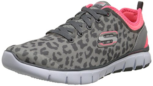 Skechers - Skech-flex - Power Player, Sneaker basse Donna Grigio (Grey (Ccpk))