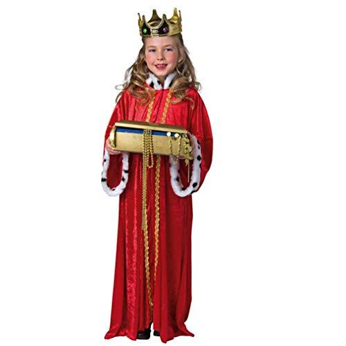 Für Kostüm Erwachsene König Balthasar - Hl. König: Mantel mit Plüschkragen
