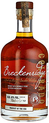 Breckenridge Bourbon Whiskey (1 X 0.7 L) - Mit 14 Goldmedaillen Preisgekrönter Bourbon Whiskey Aus Dem Schmelzwasser Der Rocky Mountains