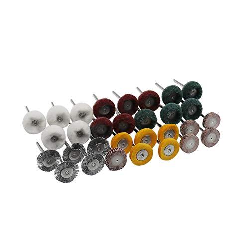 """30pcs 1/8\""""Schaft Stahldrahtbürsten Dremel Rotary Drahtbürsten Metall Rad Polier Set passt Rotary Tool Dremel Zubehör - Multi-Color"""