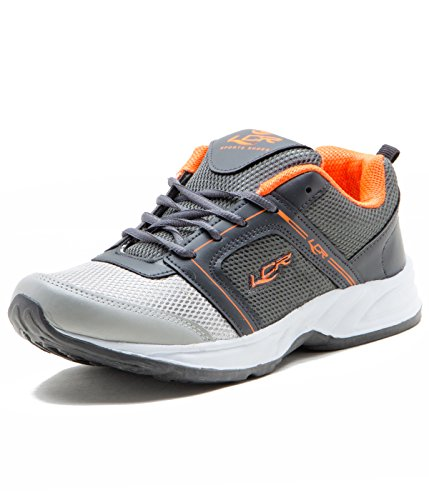 Lancer Men's Grey Orange Mesh Sport Shoes-7 Uk