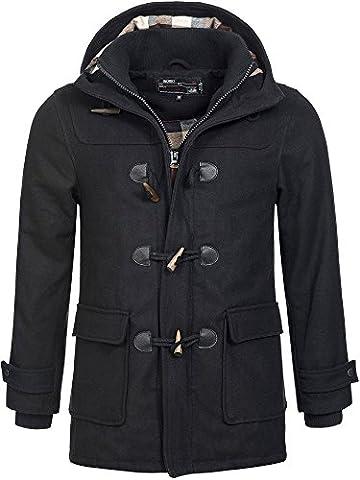 Indicode Homme Coat Trenchcoat Manteaux 15-039 Irvin Noir M